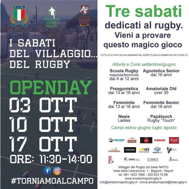Open day Villaggio del Rugby